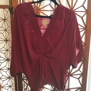 100% silk blouse from Anthropologie - NWOT